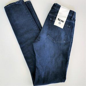 Acne Studios Men's Ace Jeans Burgundy 32x34